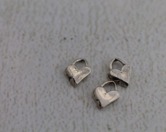 Add-On Sterling Silver Artisan Heart Valentine's Day