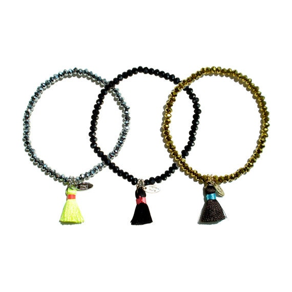 Crystal + Tassel Bracelet
