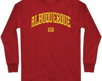LS Albuquerque 505 Tee - Long Sleeve T-shirt - Men and Kids - ABQ New Mexico 505 - S M L XL 2x 3x 4x - 4 Colors