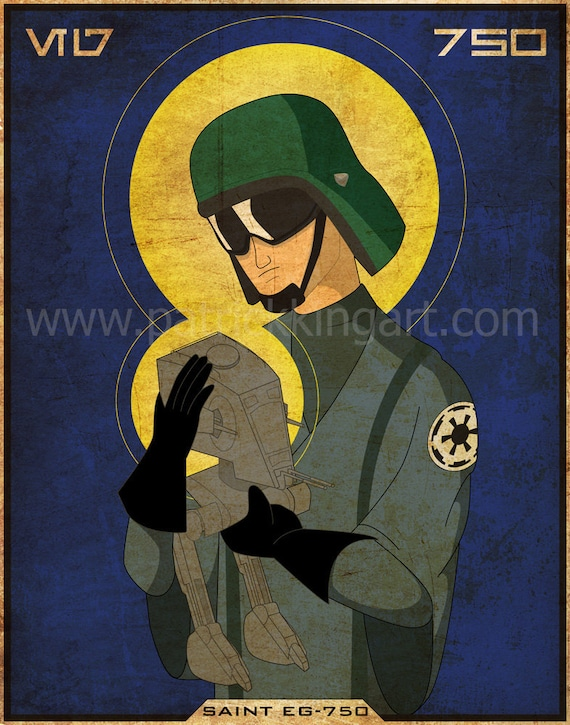 Star Wars - Imperial Saints - AT-ST Driver Art Print
