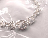 silver chunky necklace chain