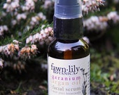 Geranium & Argan Oil Facial Serum - made from Nourishing Botanicals