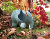 Custom Knit - Stuffed Elephant Hand Knit Baby Toy - Made to Order