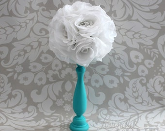 Centerpiece with White Roseball