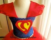 Superman inspired tutu dress costume Ready to be ship!