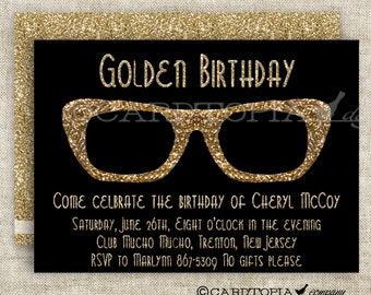 HIPSTER BIRTHDAY PARTY Invitations for Adult Woman or Girl Printable Custom Cards Party Invitations - 175428008