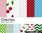 Cherries Digital Scrapbooking Papers