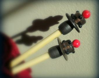 Wooden Knitting Needles...Size US 8