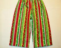 Baby Pajama Pants, Ready To Ship Size 6 Months, Christmas Pajama Pants, Baby Lounge Pants, Holiday Pajama Pants, Infant PJ Pants, Baby Gift