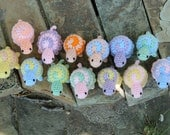 Pastel Spiral Shell Crochet Tiny Turtles