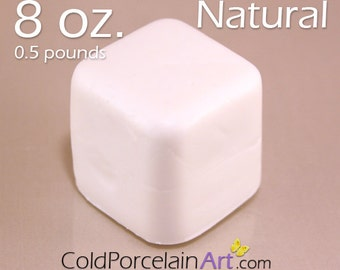 Cold Porcelain Clay 8oz. - Natural - Cold Porcelain Art