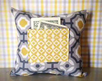 Geometric Gray - Tooth Fairy Pillow for Boy and Girl