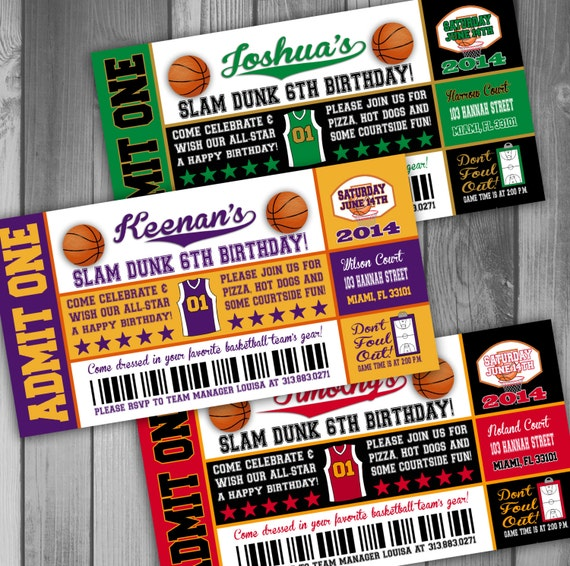 basketball birthday invitation boy birthday party by claceydesign. Black Bedroom Furniture Sets. Home Design Ideas