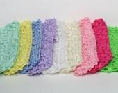 Pick 6 - CROCHET HEADBANDS - 1.5 inch (You Choose Colors), Crochet Headband, Set Os Six Headbands, Newborn Headband,  Wholesale Headbands