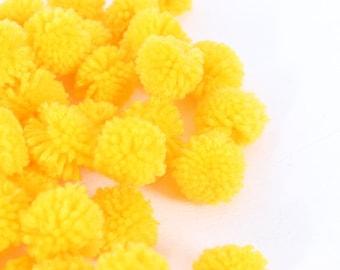 DIY Cotton Handmade Pom Poms Ball Supply Hill Tribe Thailand  (ACC204-Y)