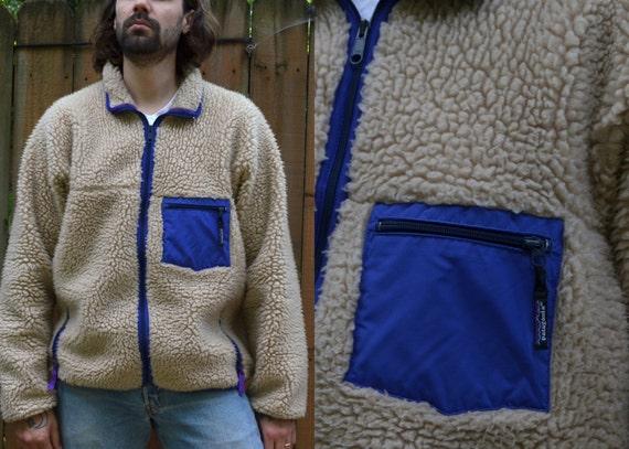 Vintage 90's Patagonia Retro Extra Deep Pile Fleece Jacket