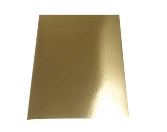 Gold Metallic Card x 10 Sheets - Double Sided A4 - Flexible Cut Make Shape - Decorations Cards Craft