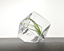 Mini Geometric Air Plant Terrarium // Mini Geometric Terrarium, Mini Modern Terrarium, Geometric Vase, Geometric Home Decor, Geo Decor