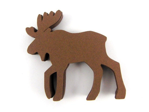 2 Moose Die Cuts Set Of 25
