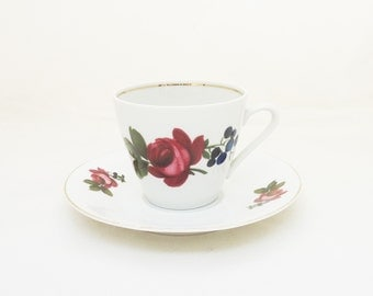 Bavaria German Tea Cup and Saucer, Bavaria Creidliz China, UK Seller