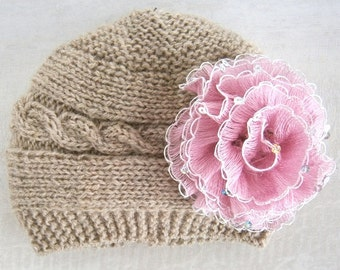 Baby Girl Hat, Knit Baby Girl Hats, Baby Beanie Hat, Knit Baby Hat, Girls Beanie Hats, Newborn Baby Hats, Baby Hat