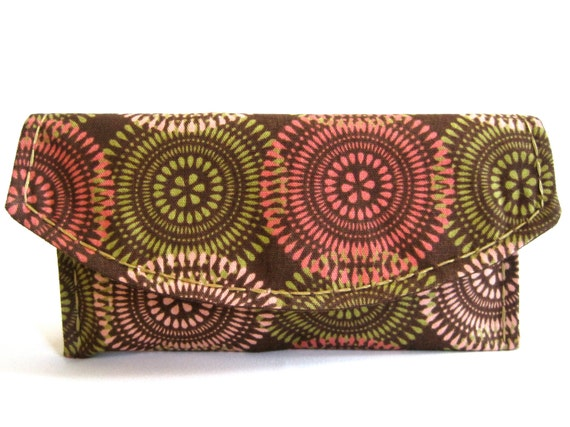 Boho Clutch Purse Unique Purse Casual Clutch Brown Faux Leather Coral Green Light Pink Small Cute Clutch Snap Clutch Teen Gift