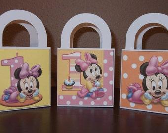 Minnie's 1st Birthday Favor/Treat Bags 3x3 (Set of 12)