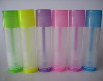 Multi Colored Empty Chapstick Tubes x6
