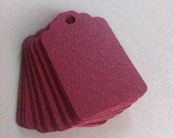 Set of 50 burgundy tags, favor tags, treat tags, producta tags, Hang Tags, Wish Tree Tags, birthday tags ,