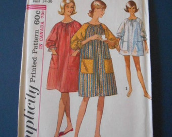 Simplicity 6074,  Misses,  Duster, robe, swimsuit cover up, size 14-16