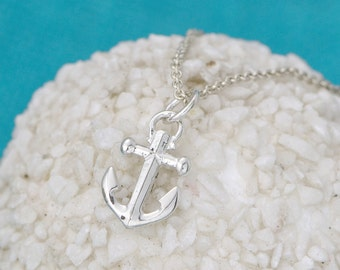 Anchor Necklace - Sterling Silver Anchor -  Anchor Pendant - Nautical Jewelry - Anchor Necklace  - Anchor Jewelry, Valentines Day Gift