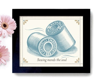 Sewing Gift Laundry Room Decor Gift for Mom Art Sign Wall Art Print Quilter Gift