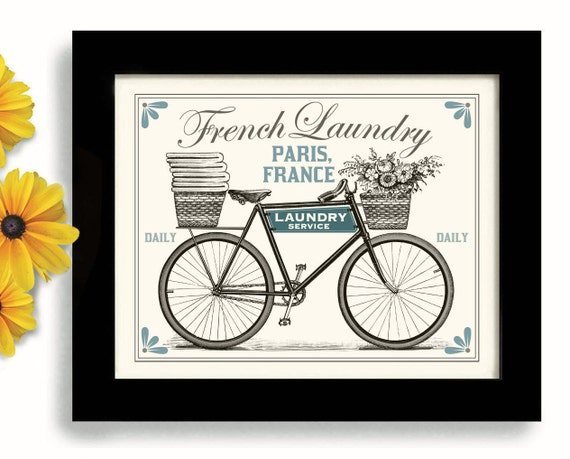 Toile Laundry Room Ideas: Laundry Room Decor French Laundry Kitchen Art Sign Wall By