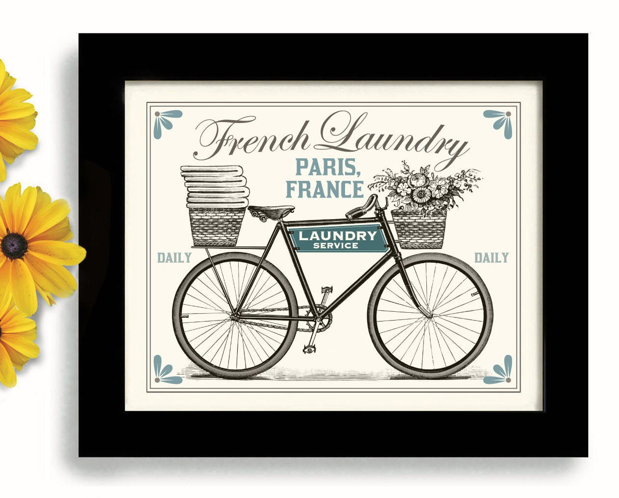 Laundry room decor french laundry kitchen art sign wall by for French kitchen artwork
