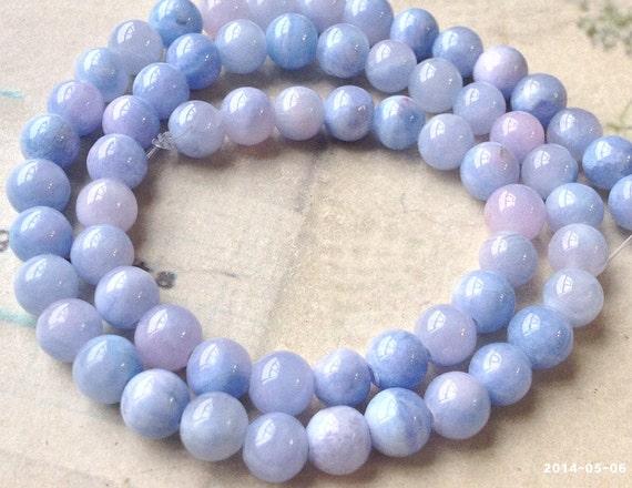 6 mm Pastel Multi Light Purple Color Round Hyun Color ...