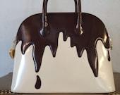 1990s Franco Moschino Chocolate Drip Iconic Purse
