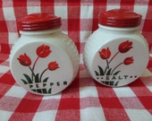 Fire King/Anchor Hocking Range Shakers -- Tulips