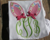 Bunny Ears Monogram  Shirt