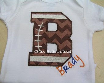 Boy's Football Initial Shirt