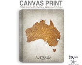 Australia Map Stretched Canvas Print - Home Is Where The Heart Is Love Map - Original Personalized Map Print on Canvas