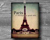 8x10 paris french vintage photograph print poster quote eiffel tower home wall decor france art
