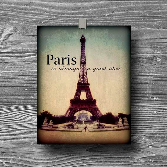 Paris Eiffel Tower Photography With Quotes Poster Quote Eiffel Tower