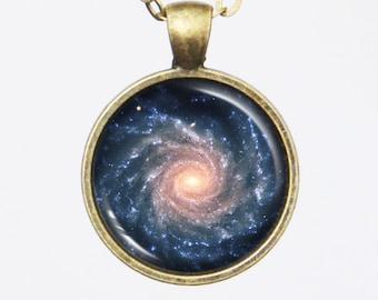 Spiral Galaxy Necklace - Grand Spiral Galaxy NGC 1232 - Galaxy Series (G010)