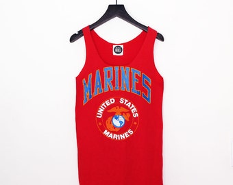 Singlet Tank Top Tee - Red United States Marines