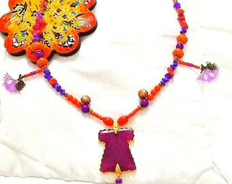 SALE--- SULTANS CAFTAN Necklace - Ottoman style- Turkish necklace - Ethnic jewelry-Bohemian