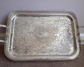 Vintage silver plated large 4 footed serving tray (Mayell Electroplated) Made in England