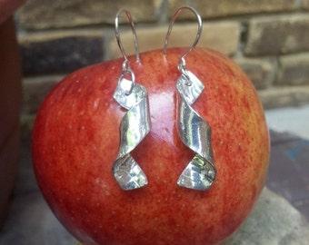 Fine Silver Coiled Earrings