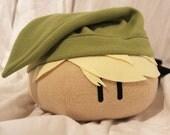 Zelda Link Dango Plush, Link Mochi, Dango Pillow, Gaming Pillow, Mochi Plush, Cosplay - Hand-made - size Large