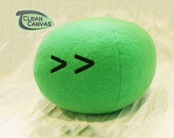 Large Clannad Carrot Face Dango Plushie - Dango Daikazoku Plush - Handmade Fiber & New Micro-bead Mix
