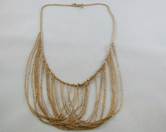 Vintage Gold Tone Sarah Coventry Necklace